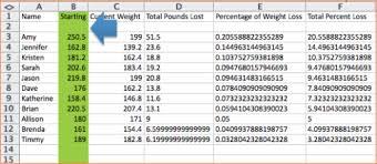 4 weight loss challenge spreadsheet procedure template sample