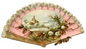 vintage fans vintage image pink fan the graphics fairy