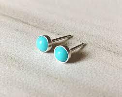 turquoise stud earrings turquoise studs etsy