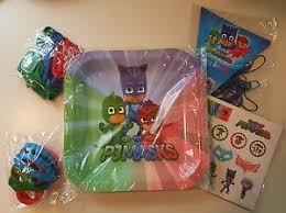 pj masks theme birthday party bundle supplies 10 guests