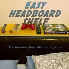 Headboard Bookshelves by Easy Headboard Shelf 3 Steps With Pictures