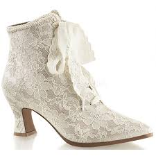 Boots Halloween Costume Victorian Jane Champagne Lace Ankle Boot Steampunk Wedding Shoes