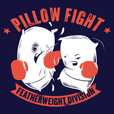 Pillow Fight Meme - pillow fight featherweight division t shirt snorgtees