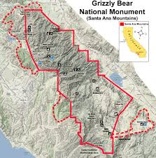Map Of Camp Pendleton Grizzly Bear National Monument Vision