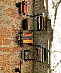 Corner Bookcase Designs Iron Pipe Shelving Systems For Urban Loft Walls U0026 Corners