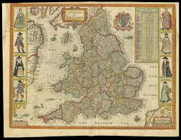 Map Of England And Wales Rare Roger Rea Edition Of Speed U0027s Map Of England And Wales Maps