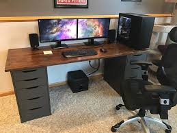Dual Monitor Gaming Desk The 25 Best Ikea Gaming Desk Ideas On Pinterest Diy Basement
