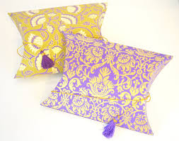 indian wedding gift box pillow pouch box with tassel wedding gift by penandfavor on zibbet