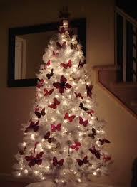 plain decoration white tree winter artificial for