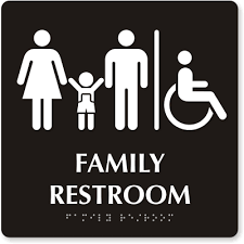 Bathroom Occupied Signs Family Restroom Signs