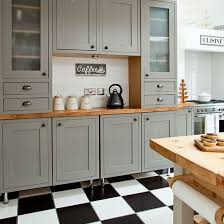 Grey Shaker Kitchen Cabinets Grey Shaker Style Kitchen With Tiled Flooring Shaker Style