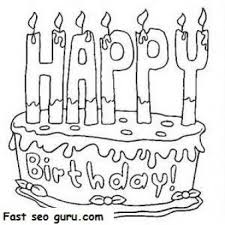 112 Best Happy Birthday Coloring Pages Images On Pinterest Birthday Cake Coloring Pages
