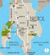 map rhode island explore bristol rhode island by land or by sea