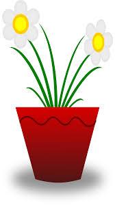 clipart flower pot