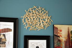 decorating with popsicle sticks all put together