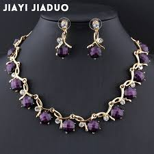 purple necklace images Jiayijiaduo bridal jewelry sets for women banquet dress jpg