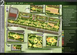 modern landscape architecture plan with showing gallery for design