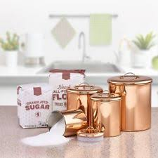 copper canisters kitchen copper kitchen tea canisters ebay