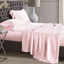 light pink oxford silk pillowcase