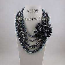 pearl necklace wholesale images Wholesale elegant necklace black fresh water pearl necklace jpg