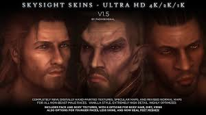 best hair mod for skyrim skysight skins ultra hd 4k and 2k male textures and real feet