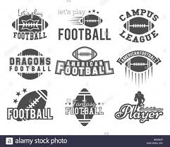 college rugby and american football team college badges logos