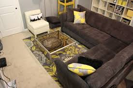 rug on top of carpet image square grey floral pattern wool carpet living room interior