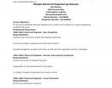 Biomedical Engineer Resume Electrical Field Engineer Sample Resume 6 Military