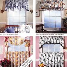Cafe Curtain Pattern Cafe Curtain Pattern Valance Swag Balloon Topper Mccalls 5741 Uncut