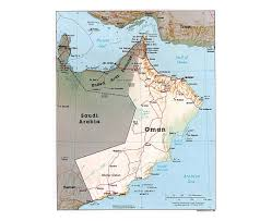 Political Map Of Southwest Asia by Maps Of Oman Detailed Map Of Oman In English Tourist Map
