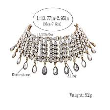 rhinestone choker collar necklace images Fashion europe statement necklace american woman costume jpg