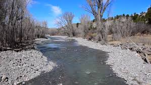 River Bed Definition Snow Melting In High Definition On A Rocky Landscape On A Nice