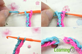 hand rubber bracelet images How to make bi color double rubber band bracelet by hand jpg