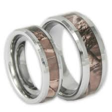 wedding rings his and hers his and hers tree camo tungsten ring set camouflage couples bands