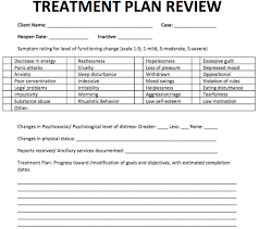 Counseling Treatment Plans For Children Treatment Plan Review Free Counseling Note Templates