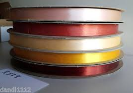 vintage sasheen ribbon 3m 5 rolls 5 8 almond russet golden