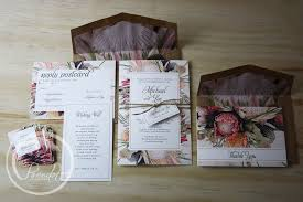 wedding invitations newcastle australian floral wedding invitation pocadot invitations
