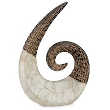 bronze capiz swirl sculpture