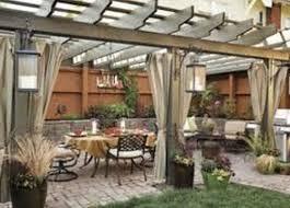 outdoor curtains pergola