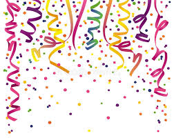 party streamers party streamers with confetti stock illustration illustration of