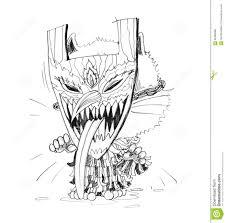 thai ghost halloween festival hand draw stock illustration image