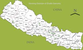 Nepal On A World Map by Shakti Samuha Contact Us