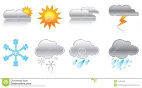 Weather Map Symbols Weather Forecast Symbols Stock Vector Illustration Of Cloudy
