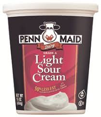 light sour cream nutrition penn maid penn maid 16 oz light sour cream
