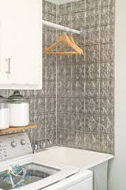 utility sink makeover with faux tin backsplash 17 home laundry