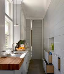 Designing Kitchens In Small Spaces Long Kitchen Hall Way Design Ideas For The Small Space Kitchen