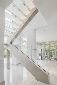 floating glass staircase with led lighting bella stairs llc