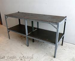vintage kitchen work table vintage industrial steel work table kitchen lk for sale within