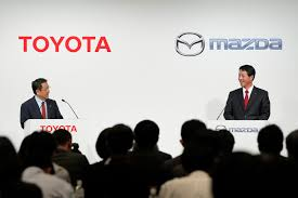 mazda motor company toyota mazda expand tieup to include technology exchanges the
