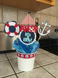 Boy Baby Shower Centerpieces by Nautical Baby Shower Cutouts 10 Per Set Includes 5 Handmade